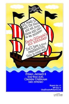 Pirate ship invitation