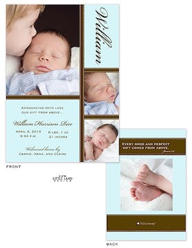 Boy Photo Birth Announcement