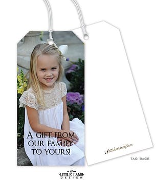 Full Photo Hanging Gift Tag