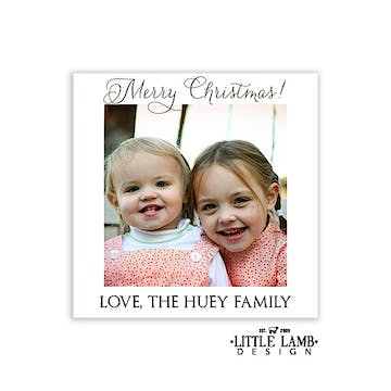 White Border Photo Square Gift Sticker