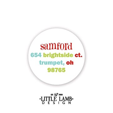 Simple and Bright Circular Return Address Label