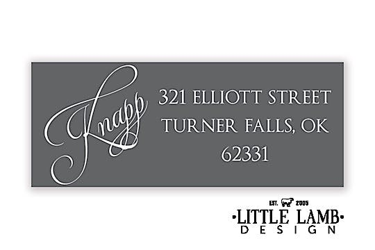 Grey Return Address Label