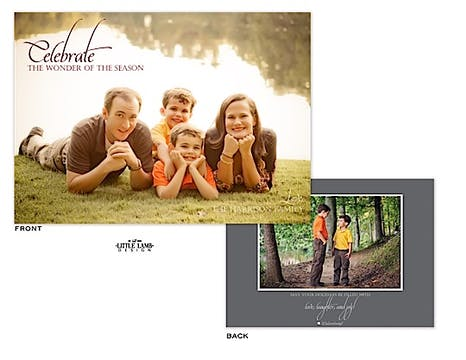 Full bleed Holiday Flat Photo Card