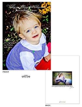 Full bleed Holiday Flat Photo Card with optional Flat Photo on the back