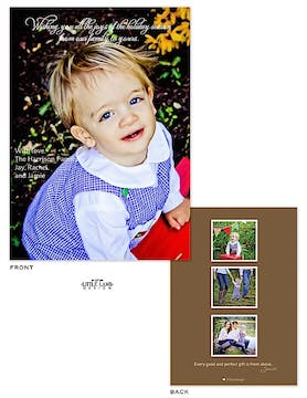 Full bleed Holiday Flat Photo Card with 3 optional Flat Photos on the back