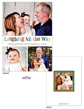 Laughing All The Way Holiday Flat Photo Card