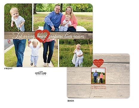 Wooden Collage Holiday Flat Photo Card