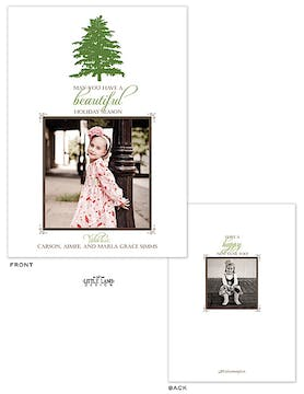 Simple Christmas Tree Flat Photo Holiday Card