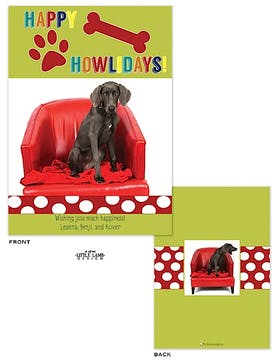 Dog Flat Photo Holiday Card
