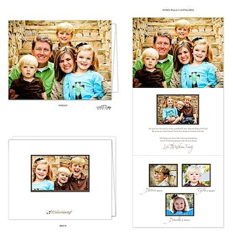 4.25 x 5.5 Vertical Tri-fold Card