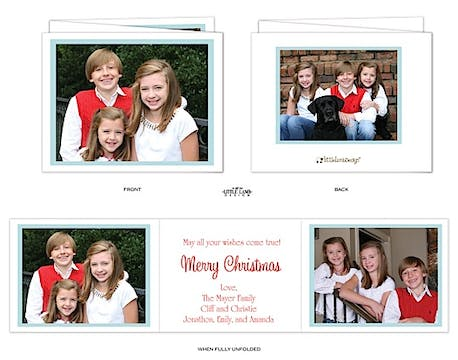 Simple tri-fold Holiday Card