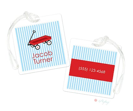 Little Red Wagon Luggage Tag
