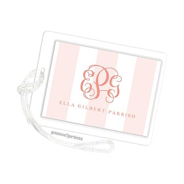 Broad Stripes Blush Id Tag