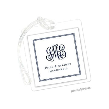 Pinstripes Navy Id Tag