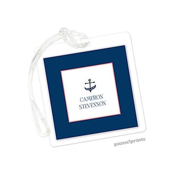 Anchor Navy Id Tag
