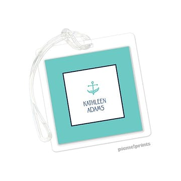 Anchor Turquoise Id Tag