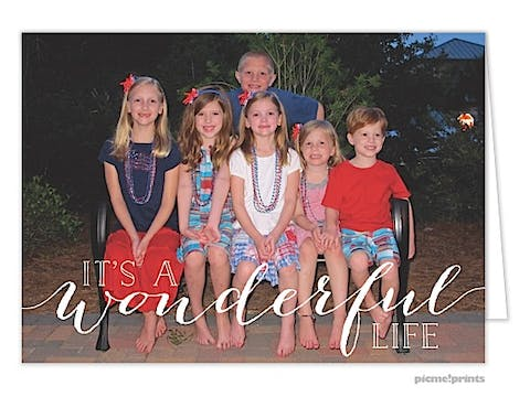 It's a Wonderful Life Holiday Folded Photo Card