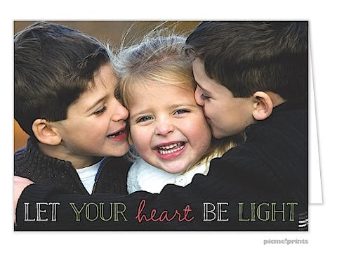 Let Your Heart Be Light Holiday Folded Photo Card