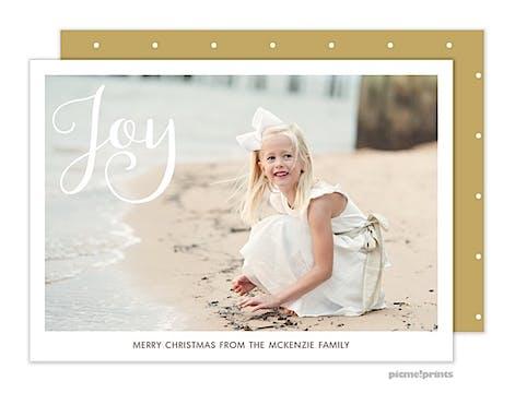 Simply Joy Gold Horizontal Holiday Flat Photo Card