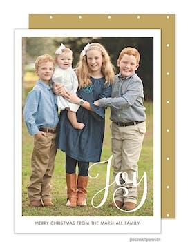 Simply Joy Gold Vertical Holiday Flat Photo Card