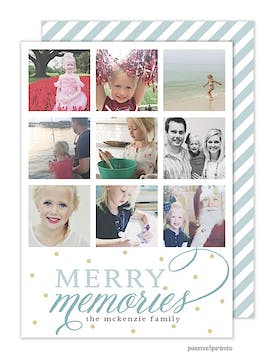 Merry Memories Holiday Flat Photo Card