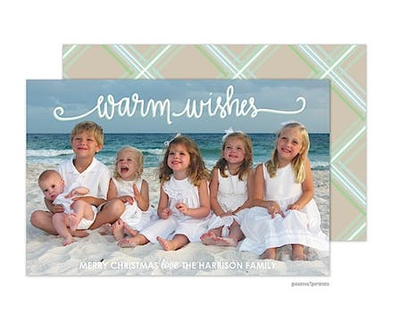 Warm Wishes Holiday Flat Photo Card