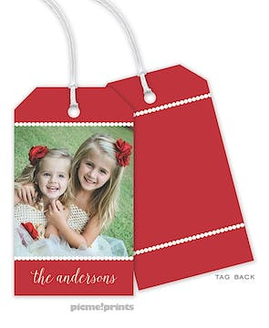 A Holiday Photo Hanging Gift Tag
