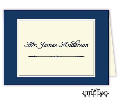 Simply Sophisticated Navy Placecard