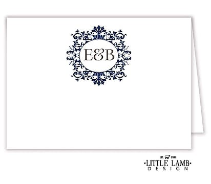 Graceful Navy Frame Placecard