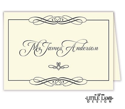 Swanky Placecard