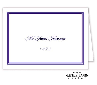 Double line border placecard