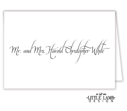 Calligraphy Wedding Placecard