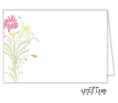 Multi-color Floral Placecard