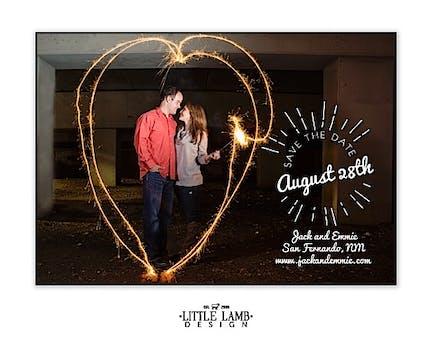 Sunburst Love Photo Save The Date Magnet