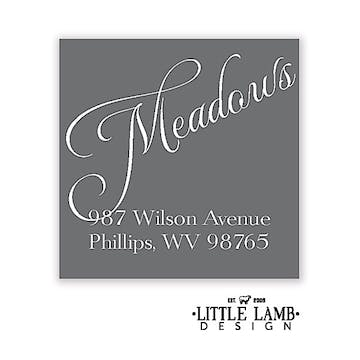 Grey and White Simple Return Address Label
