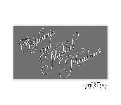 Grey and White Simple Gift Sticker