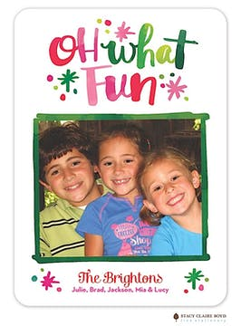 Watercolor Fun Holiday Flat Photo Card