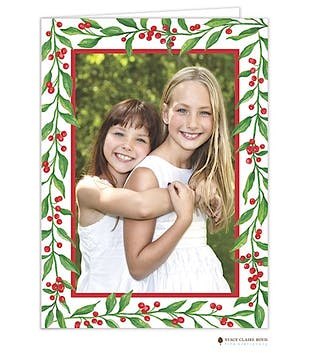 Merriment Vines Holiday Folded Photo Card