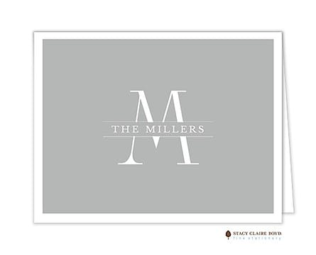 Grand Monogram Folded Note