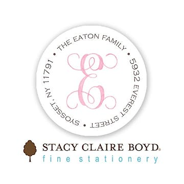 Sweet Welcome - Pink Round Address Sticky