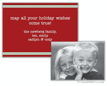 Holiday Flat Photo Card