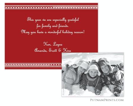 Holiday Flat Photo Card