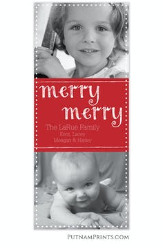 Merry Chalk Flat Photo Card