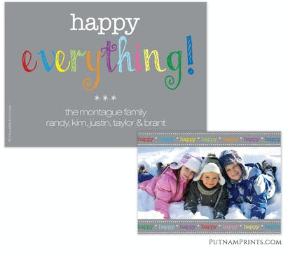 Happy Everything Flat Photo Card