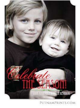 Celebrate The Season Flat Photo Card