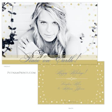 Golden Sprinkles Holiday Flat Photo Card