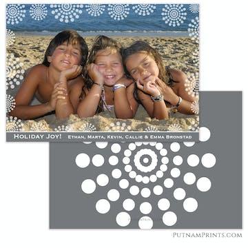 Dot Bursts Holiday Flat Photo Card