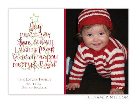 Greeting Tree Holiday Flat Photo Card