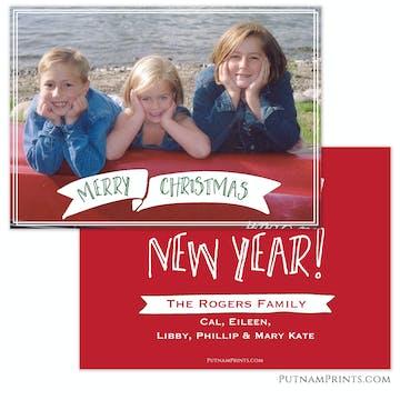 Christmas Banner Holiday Flat Photo Card