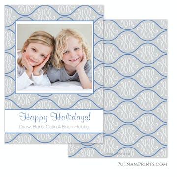 Pretty Pattern Holiday Flat Photo Card